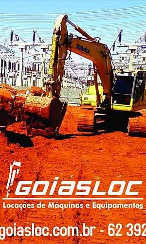 Locação de escavadeira com rompedor hidraulico